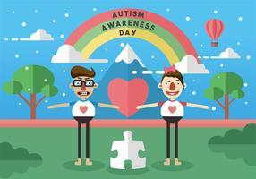 Arte del vector del día de la conciencia del autismo