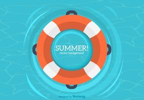 Summer Inner Tube Vector Background