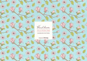 Colored Hand Drawn Blossom Branches Seamless Pattern vector
