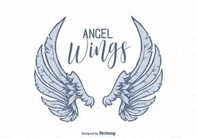 Vector Hand Drawn Angel Wings