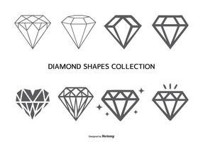 Collection Vector Diamond Shapes