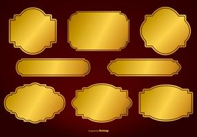Gold Vector Labels Collection