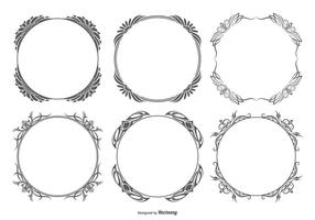 Collection de cadres vectoriels décoratifs