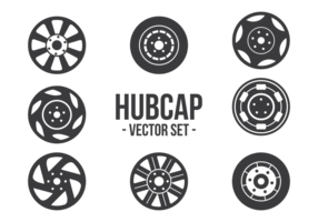Hubcap icons vector