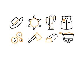 Wilder Westen Icon Set