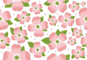 Dogwood Flower Seamless Pattern