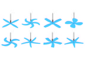 Set of Ceiling Fan Icons