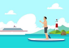 Paddleboard kostenloser Vektor