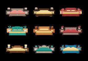 Kopfbrett Icons Vektor