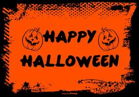 Grunge frame halloween background