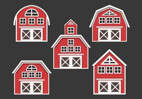 Red Barn Vector Collection