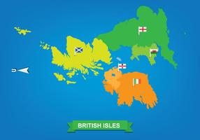 British Isles and Republic of Ireland Map