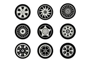Gratis Hubcap Vector Collection