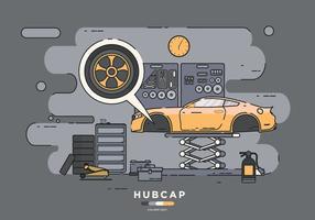 Installing Hubcap Vector