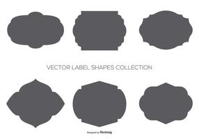 Vector Label Shapes Sammlung