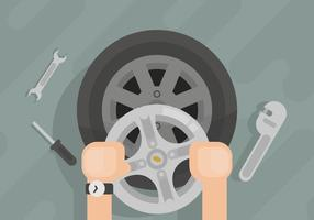 Hubcap Illustration