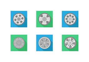 Hubcap paquete vectorial gratis
