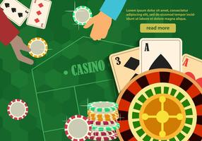 Ruleta casino tablete vector
