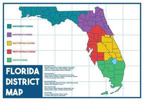 Vector de mapa de la Florida