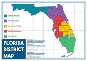 Vetor do mapa da Flórida