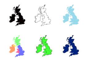 Republic of Ireland and British Isles Map Vector