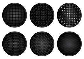 Zwarte Speaker Grill Vector
