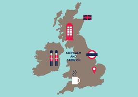 Typische Britse Kaart
