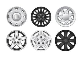 Cubo de rueda de la rueda de plata vectores