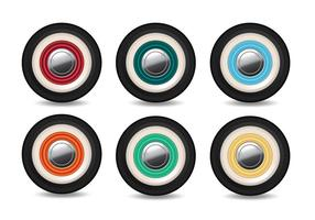Roda do vetor com cores diferentes