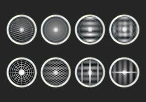 Speaker Grill Icon Vector Set
