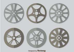Hubcap  On Grey Vector