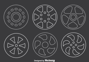 Vetor de linha hubcap