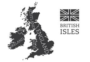 British Isles and Ireland Map