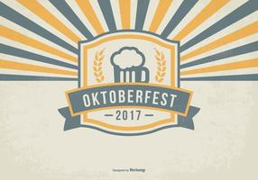 Retro oktober fest illustration