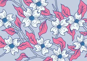 Hartriegel-Blumen-Vektor