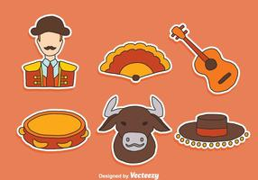 Hand Drawn Bull Fighter Element Vector