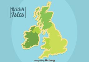 Green British Isles and Republic of Ireland Vector