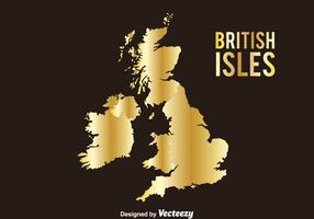 Golden British Isles Vector