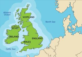 Republic of Ireland and British Isles Map