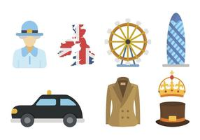 Flat United Kingdom Vectors