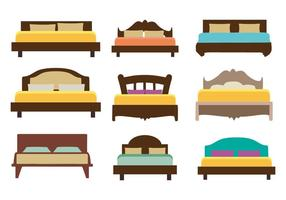 Vector de cama de móveis grátis