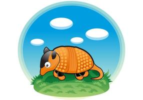 Cute Armadillo Vector