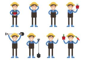 Peasant Character Set vector