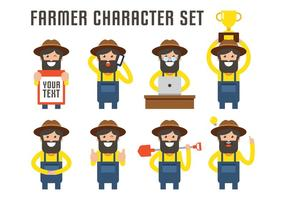 Farmer Character Set vector