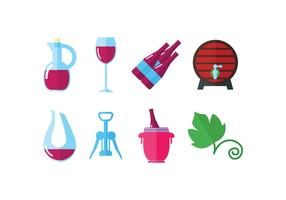 Weingut Set Vektor Symbole