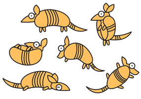 Cheerful Armadillo Cartoon Vector