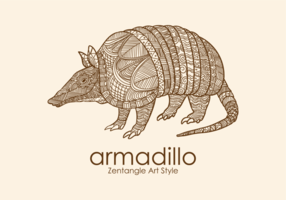 Armadillo Zentangle Style