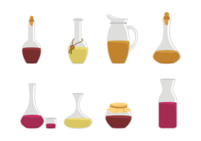 Decanter Icons Vector