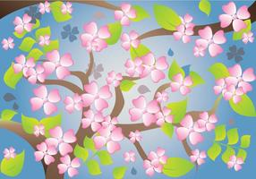 Dogwood Pattern Background Vector