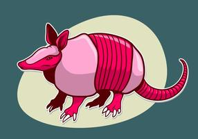Armadillo Aufkleber Illustration